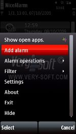 NiceAlarm S60.v.9 screenshot